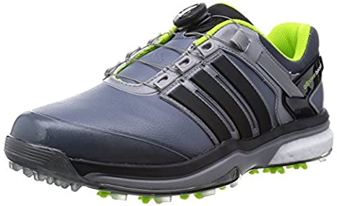 2015 Adidas Adipower Boa Boost Mens Waterproof Golf Shoes - Wide Fitting Onix/Black 7UK