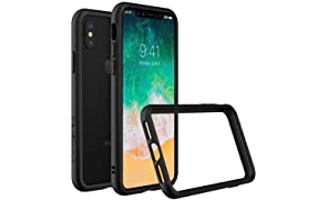 iPhone X Bumper Case [CrashGuard by RhinoShield] | Shock Absorbent Slim Design Protective Cover [3.5M/11ft Drop Protection] Apple - Black
