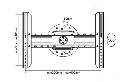 Black Full-Rotation Fixed/Flat Wall Mount Bracket for Sony Bravia XBR-55A1E 55