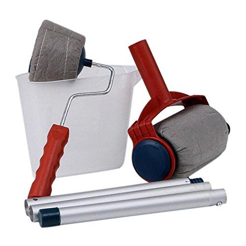 Kit in 6 pezzi con pennelli a rullo per pitturare e decorare le mura di casa; multifunzione