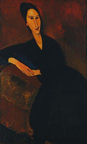 Das Museum Outlet-Amedeo Modigliani-Anna Zborowska, gespannte Leinwand Galerie verpackt. 40,6x 50,8cm - Amedeo Modigliani Gerahmte Leinwand