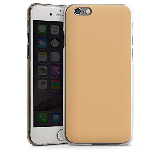 Apple iPhone 4 Housse Étui Silicone Coque Protection Beige Sable Marron CasDur transparent