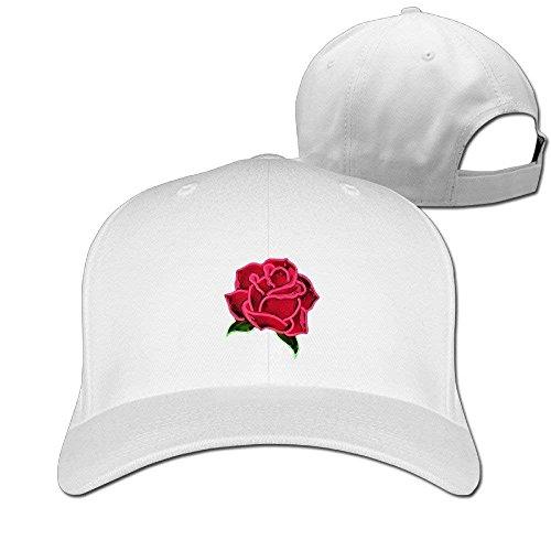 Hhaj Rose Cotton Trunker Hat Print Adjustable Baseball Caps Blank Trucker Hats