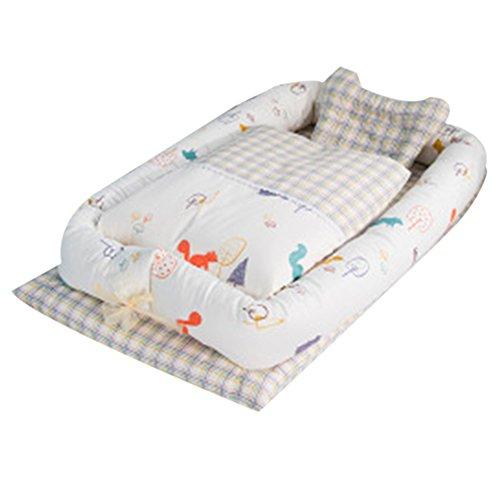 Babybett mit Quilt Abnehmbare Baby Isolierte Bett Neugeborene Baby Schlafsack Artefakt klappbar Bionic Bett mit eine Steppdecke (0–24Monate)
