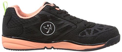 Zumba Footwear Zumba Energy Fuze, Damen Hallenschuhe, Schwarz (Black/Coral), 40.5 EU (6.5 Damen UK) -