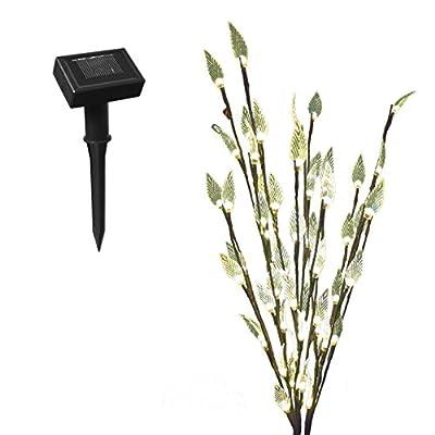 GardenKraft 12750 LED Solar Branch Path Finders - Brown (Set of 3)