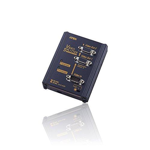 2-wege Vga Svga Splitter (CDL Micro 2Port/Wege Kompakt erweiterbar 250MHz SVGA VGA Splitter Box erhöht Signal-Schwarz)