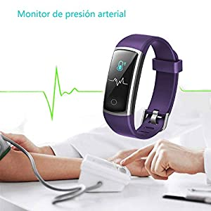YAMAY IP68 Smart Activity Bracelet Waterproof with 14 Sport Modes, Smart Bracelet with Heart Rate Monitor, Blood Pressure, Sleep, Pedometer, Sport Bracelet for Android and iOS Mobile Phone