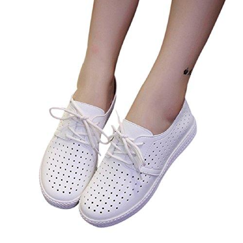 Pu Borracha Planas Outono Mocassins Transer® Casuais Sandália Do Primavera Maior Branco Deslizador Senhoras Muito Sapatos Obrigado Favor por Um Número 0qCnwBp