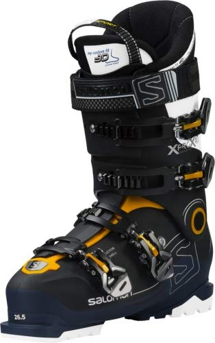 Salomon Herren Ski-Stiefel X Pro X90 CS Skistiefel, Schwarz/Blau/Weiss, 27.5