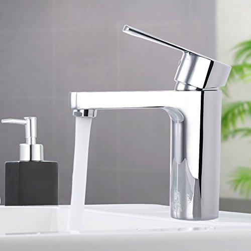 Wasserhahn Liefern (ubeegol Chrom Wasserhahn Bad Armatur Waschtisch Einhebel Waschtischarmatur Mischbatterie Waschbecken Badarmatur Waschbeckenarmatur)