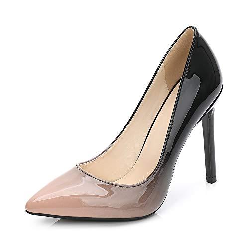 84352b0a3e001 Phorecys Women's Pointed Toe Stilettos High Heels 11CM Dress Pumps Court  Shoes Apricot Asian 46-UK 9