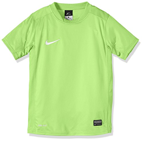 Nike Short Sleeve Top Park V Jersey, Action Green/White, M, 448254-350 (Jersey-top Sleeve Short)