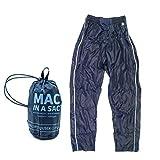 Mac in a Sac Full Zip Regenhosen für Kinder mit Reissverschluss - 7000 mm Wassersäule - 7000gsm Atmungsaktiv - Unisex - Navy (11-13 Yrs)