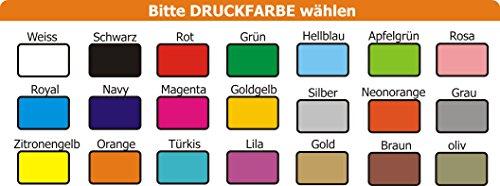 Hunde Wende- Halstuch (Fb: rot-orange) (Gr.1 – HU bis 29 cm) mit Ihrem Wunschtext - 5