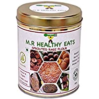 M.R Healthy Eats Organic Homemade Sprouted Ragi Flour 500 g (Now in Eco Friendly Steel Container)