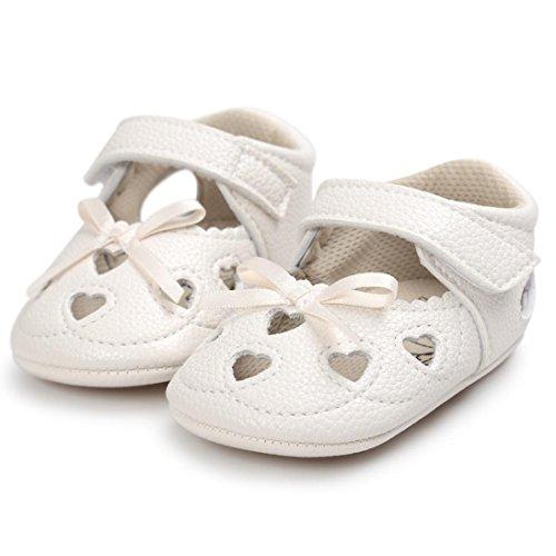 Pour 0-18 mois Bébé,Transer ® Mignon bébé fille bowknot Soft semelle chaussures anti-dérapant sandales Beige