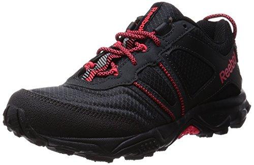 Reebok Damen Trail Voyager RS 2.0 Outdoor Fitnessschuhe, Schwarz (Black/Gravel/Neon Cherry), 38.5 EU