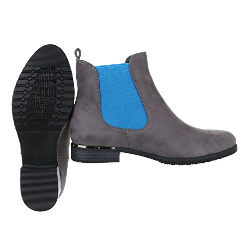 Chelsea Boots Damenschuhe Chelsea Boots Blockabsatz Chelsea Boots Ital-Design Stiefeletten Schwarz