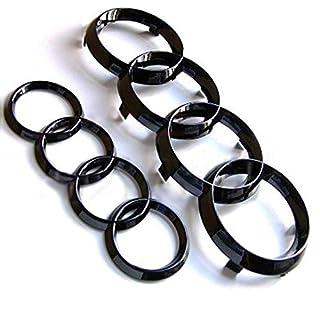 Schwarze Ring-Emblem für Vorder- und Rückseite, glänzend
