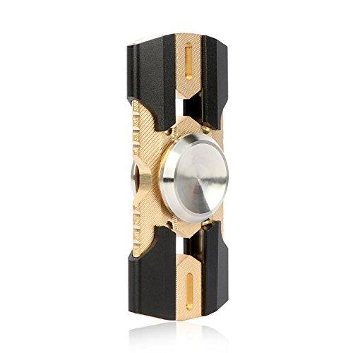 Preisvergleich Produktbild KIPTOP Klassische Spinner aus Hochwertiges Kupfer Stahlroboter Form, 688 Bearing ca.180 Sekunden Spins, für Stressabbau und Entspannung (Schwarz)