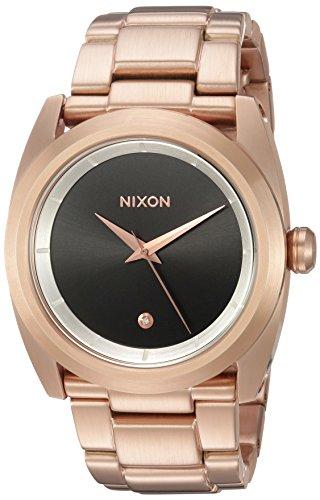 Nixon Femme 'Queenpin' à quartz en acier inoxydable montre automatique, couleur: rose Gold-toned (modèle: A9352361–00)