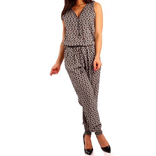 Damen Zipper Overall Jumpsuit Pump Mehrfarbig/Model7