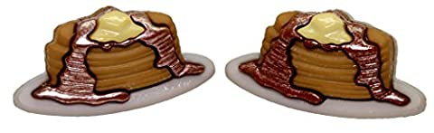 Bluebubble ALL DAY BREAKFAST American Pancake Earrings With FREE Gift Box