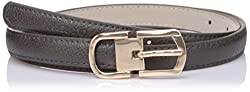 Lino Perros Womens Belt (LWBE00452GREY_95)
