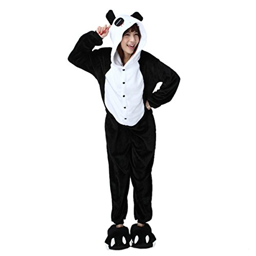 Pyjama Animal Kiguruma Grenouillere Combinaison Unisex Cosplay Costume Déguisement Vêtement de Nuit (S, Panda)