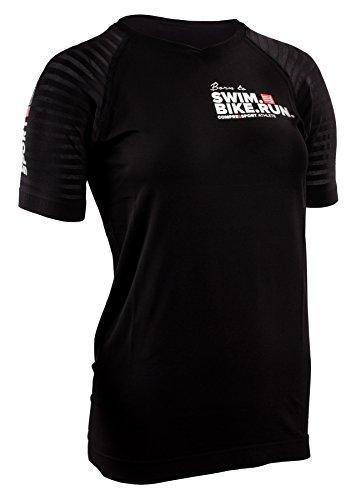 COMPRESSPORT SwimBikeRun Training T-Shirt Damen Black Größe L 2019 Laufshirt Kurzarm