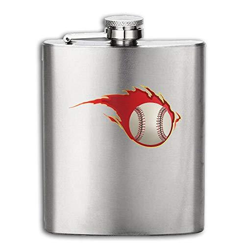 Hip Flask For Liquor Men's Fireball Softball Stainless Steel Bottle Unisex