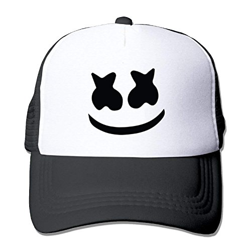Xdevrbk Adult mesh Baseball Cap Marshmello face Trucker Hat C1