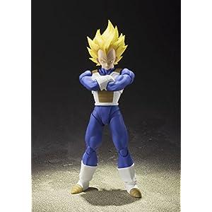 BANDAI S.H. Figuarts Dragon Ball Z Super Saiyan Super Vegeta 13.5 cm Aprox. PVC & ABS Painted Action Figure [Japan]