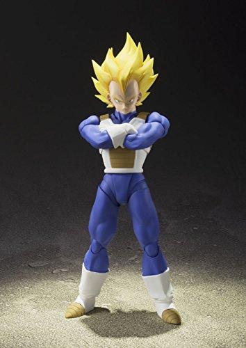 S.H. Figuarts Dragon Ball Z Super Saiyan Super Vegeta 13.5 cm aprox. PVC & ABS Painted Action Figure [Japan] , color… 2