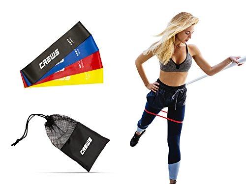 Crews Fitnessbänder 4-Stärken Set – Gymnastikbänder für Yoga, Pilates, Physiotherapie, Gymnastik und Crossfit