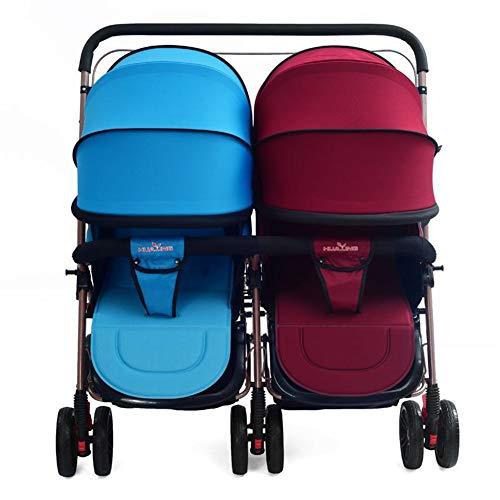 Lvbeis Zwillinge Kinderwagen Doppel Buggy Falten Kinderbuggy Leichte Kombiwagen,Color (Doppel-kinderwagen Falten)