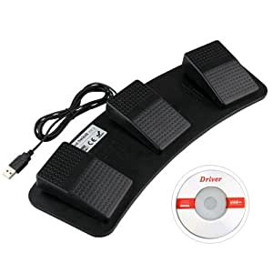 FACILLA® PC USB Foot Control Keyboard Action Switch Pedal HID [video game]