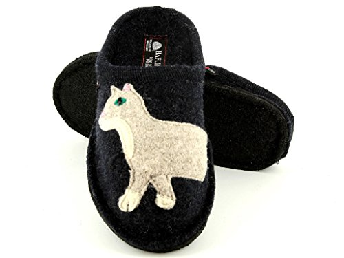 Haflinger Babsy, Chaussons mixte adulte Navy