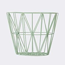Ferm Living Wire Basket - Mint - Large - h45 x b60 cm