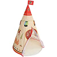 WXGY rosemaryrose Childrens Teepee Kids Play Tent Indoor Outdoor Red Indian Prince Princess Playhouse Camp Camping Tee Pee modern