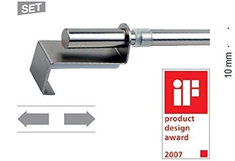 MyDeco Klemmstange Vitragestange Scheibenstange Scheibengardinen Bistrostange   weiss   60-90 cm ausziehbar