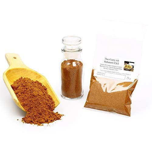 Thai Curry extra scharf mit Habanero Chili | Curry-Gewürz | asiatische Gewürzmischung | Vegane Gewürze glutenfrei | 25g