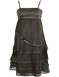 Strappy Satin Bodice Layered Dress. RRP: £65. Size 10-12.