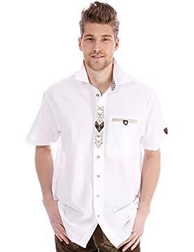 orbis Textil OS-Trachten Trachtenhemd Halbarm Dirk Weiss