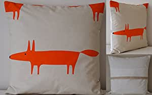 Scion Mr Fox Tissu. Big Fox 40,6 cm/40 cm Housse de coussin Naturel