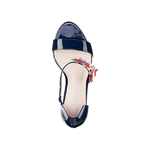 La Redoute Mademoiselle R Donna Sandali Vernice Dettaglio Floreale Blu