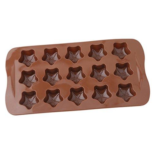 Yinew Brown Stern Schokoladen Kuchen Schokoladen Eis Gittergitter (Cupcake Brown Ein Stück Kuchen)