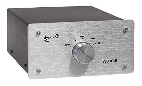 Dynavox Eingangs-Umschalter AUX-S silber