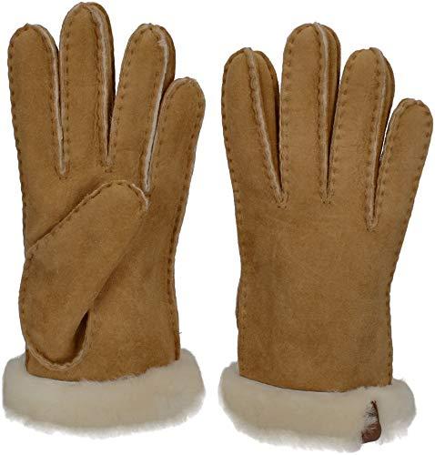 UGG Shorty Glove - Guantes de piel marrón L